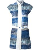 Kenzo 'Scribble Stripes' Shirt Dress - Lyst