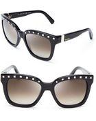 Valentino Rockstud Square Oversized Sunglasses - Lyst