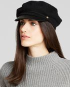 Lauren by Ralph Lauren Greek Fisherman Hat with Leather Brim - Lyst