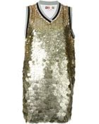 MSGM Sequinned Long Vest - Lyst