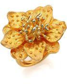 Kenneth Jay Lane Anemone Flower Ring - Lyst