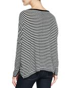 Alice + Olivia Boxy Ribbed & Striped Sweater - Lyst