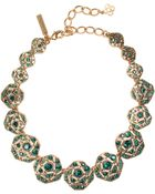 Oscar de la Renta Rose Pave Necklace - Lyst