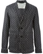 Ann Demeulemeester Grise Patterned Jacket - Lyst