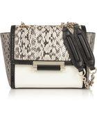 Diane von Furstenberg Elaphe And Leather Shoulder Bag - Lyst