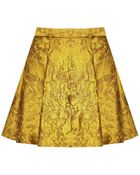 Alice + Olivia Vernon Center Pleat Mini Skirt - Lyst