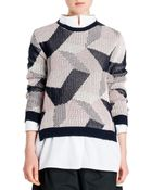 Jil Sander Abstract Intarsia Knit Sweater - Lyst