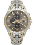 Seiko Men'S Chronograph Solar Two-Tone Stainless Steel Bracelet 43Mm Ssc138 - Lyst