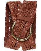 Banana Republic Heritage Woven Leather Belt Cognac - Lyst