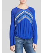 Free People Top - New World Jersey In The Flowers - Lyst