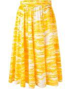 Yves Saint Laurent Vintage Printed Volume Skirt - Lyst