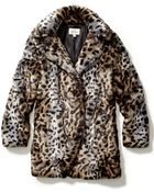 Sabine Faux Fur Animal Coat - Lyst