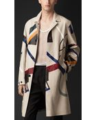 Burberry Hand-Painted Leather Caban - Lyst