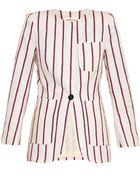 Etoile Isabel Marant Jenny Striped Cotton-Blend Jacket - Lyst