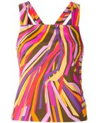 Emilio Pucci Printed Cross Back Top - Lyst