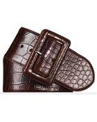 Ralph Lauren Alligator Trench-Buckle Belt - Lyst
