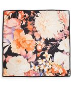 Roberto Cavalli Floral Print Silk Scarf - Lyst