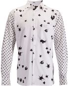 Comme des Garçons Graphic Polka Sleeve Shirt White - Lyst