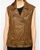 Ganni Leather Vest - Lyst