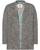 Etro Cotton And Linen-Blend Jacket - Lyst