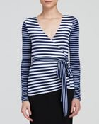 Diane von Furstenberg Wrap Top - Behati Stripe - Lyst