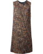 Dolce & Gabbana Woven Shift Dress - Lyst