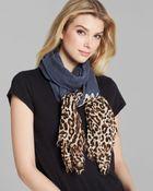 Lauren by Ralph Lauren Leopard Ends Scarf - Lyst