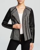 Calvin Klein Faux Leather Print Jacket - Lyst