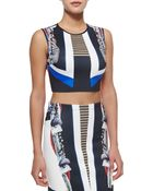 Clover Canyon Ancient Parallels Sleeveless Crop Top - Lyst