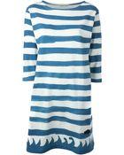 Tsumori Chisato Stripes And Wave Print Dress - Lyst