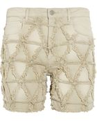 Isabel Marant Gustave Frayed Stretch-Denim Shorts - Lyst