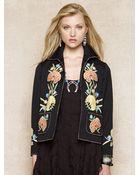 Ralph Lauren Blue Label Embroidered Wool-Blend Jacket - Lyst