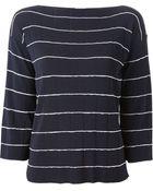 Armani Striped Fine-Knit Sweater - Lyst