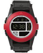 Nixon Baja All Black Red Watch - Lyst