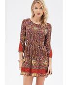 Love 21 Paisley Print Dress - Lyst