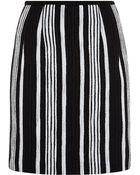 Carven Fancy Striped Tweed Skirt - Lyst
