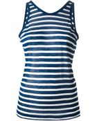 T By Alexander Wang Striped Tank Top - Lyst