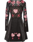 Temperley London Beatriz Embroidered Cotton And Silk-Blend Dress - Lyst