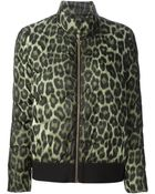 Moncler Gamme Rouge Leopard Print Padded Jacket - Lyst