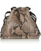 Loewe Flamenco Python And Leather Shoulder Bag - Lyst