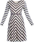 BCBGMAXAZRIA Kristina Long-Sleeve A-Line Skirt Dress - Lyst