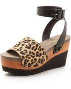 Flogg Poppi Haircalf Platform Sandals - Brown Leopard - Lyst