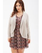 Forever 21 Open-Front Cardigan - Lyst