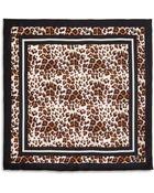 Diane von Furstenberg Leopard-Print Silk Scarf - Lyst
