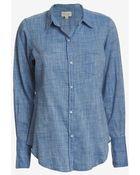 Nili Lotan Chambray Shirt - Lyst