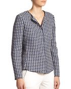 Armani Piped Tweed Jacket - Lyst
