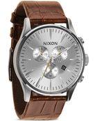 Nixon 'The Sentry Chrono Leather' Watch - Lyst