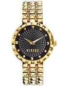 Versus  Women'S Coral Gables Gold-Tone Studded Stainless Steel Bracelet Watch 36Mm Sod03 0014 - Lyst