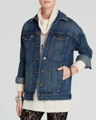 Free People Jacket - Long Denim - Lyst