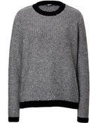Jil Sander Navy Wool Textured Pullover - Lyst